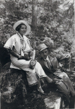 My Ukrainian Grandparents, Irene and Dmytro. My grandmother (who was a total bitch to my mom because my mom wasn't Polish) was quite fashionable. She often bragged that she was the first woman in her village to wear pants.