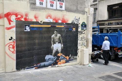 Awesome street art!!  Ali should have replaced Balrog.  I mean, even Zangief was better than Balrog!  Ali may have been the greatest, but I'm pretty sure my man, Dhalsim, would take him easy.