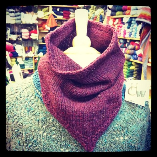 Bandana cowl #4 #knit #shelter #purlbee (Taken with Instagram at Hill Country Weavers)