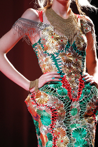 from Jean Paul Gaultier's Amy Winehouse inspired haute couture collection, Spring 2012.