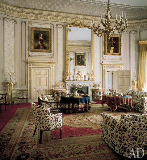 The drawing room at Frogmore House, Windsor, Berkshire, England