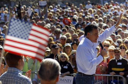 NBC News projects that Mitt Romney will win the Florida GOP primary; Newt Gingrich is a distant second. Photo: Reuters/Brian Snyder