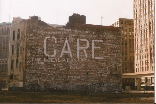 "detroitlives:  ""care"" near Grand Circus Park"
