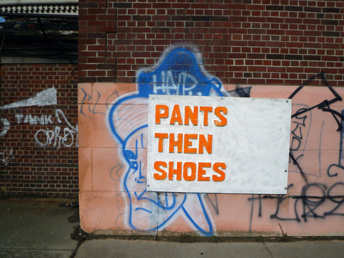 Pants the Shoes. Detroit on Flickr.Remember. Pants then shoes. #Detroit #Streetart