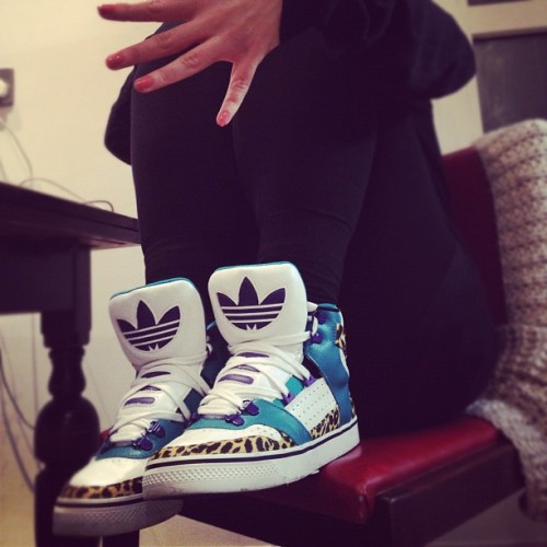 freethoughtism:  @SophieGlynne - Fresh Nails X Jeremy Scott X Adidas Originals JS Bones