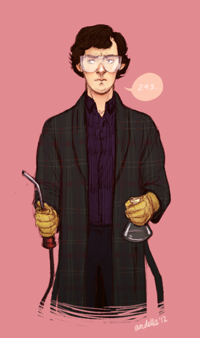 andells:  sherlock in his science gear was so CUTE ;A;