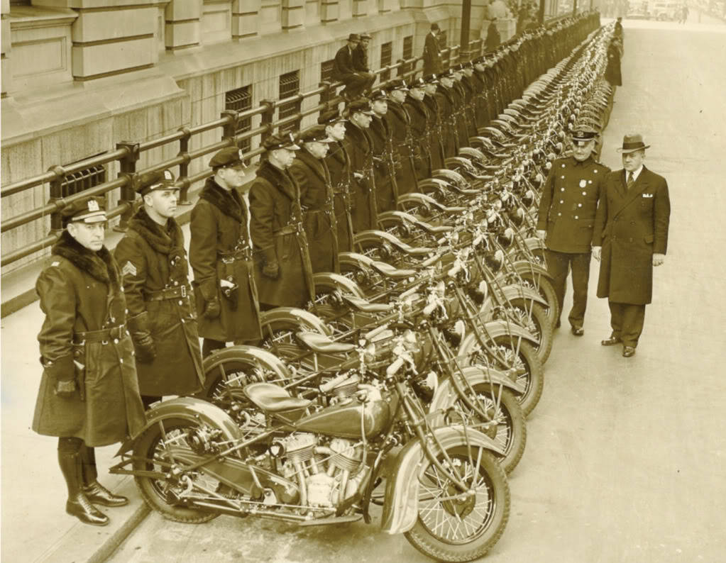 "A review of Motorcycles at the old NYPD Headquarters {Aka ""The Tombs"") which is also home to a correctional facility right in The Bowery Riots Neighborhood  more info here http://en.wikipedia.org/wiki/The_Tombs"