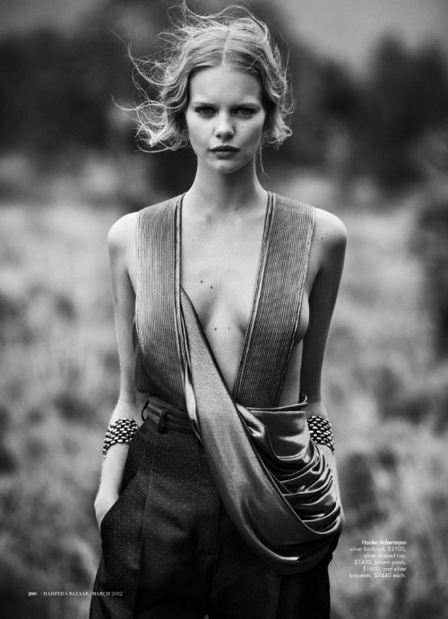 """Wanderlust"" Harper's Bazaar Australia, March 2012 photographer: Will Davidson Marloes Horst Marloes Horst by Will Davidson for Harper's Bazaar Australia March 2012"