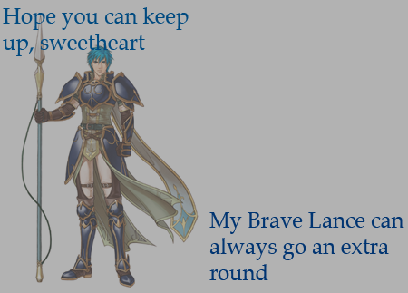 """Hope you can keep up, sweetheart. My Brave Lance can always go an extra round"" Submitted by: awildninetales"