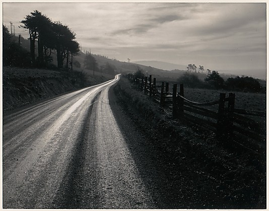 Ansel Adams, Road after Rain, Northern California, 1960 [From the Metropolitan Museum of Art]. Thank you, liquidnight.