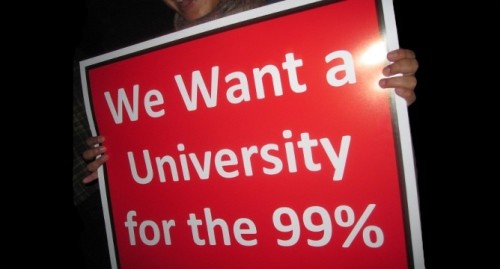 "chileanstudentmovement:  ""Queremos una Universidad para el 99%"" November, Occupy Harvard Source"
