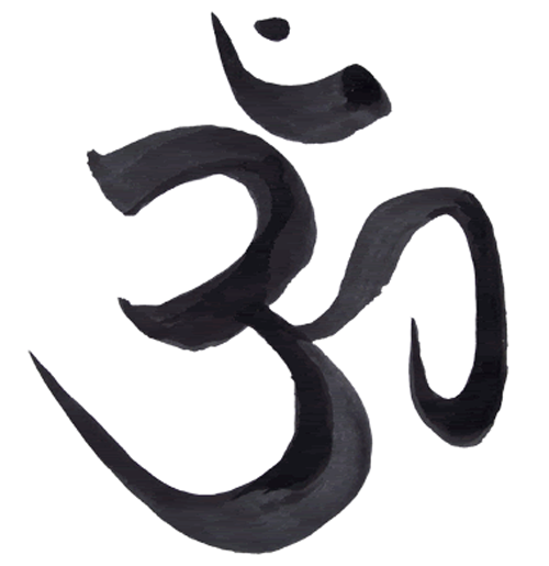 the 'om' symbol in sanskrit, which has significance in buddhism and hinduism.