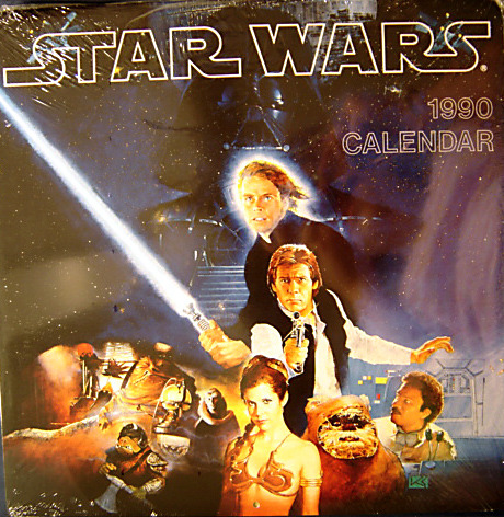 Star Wars Episode VI: Return Of The Jedi Calendar, 1990 From the collection of: Duncan Jenkins Below: 1995 Empire Strikes Back Star Wars Calendar)