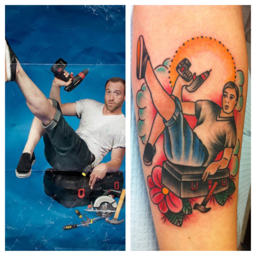 fyeahqueertattoos:  alexstrangler:  Just did this  This person wins at life.