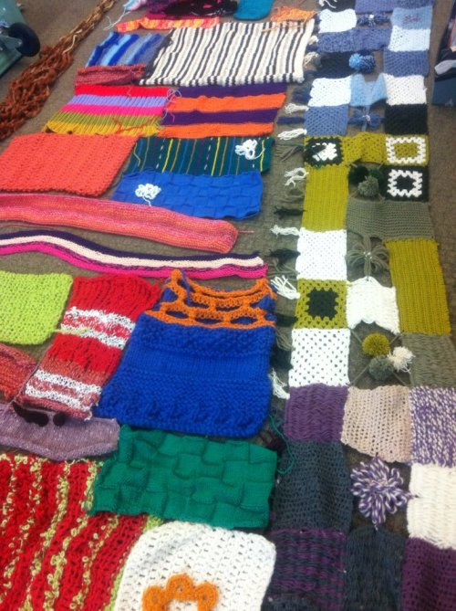 wow! check out these gorgeous creations people have made especially for knit the beach! we will be installing them all, in full yarn bomb style, down at scarborough beach this friday morning - come on down and join in! :)