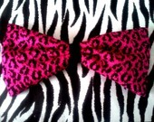 Leopard bow brooch/hair bow by SubAtomicCrisis on Etsy  $10.00 USD