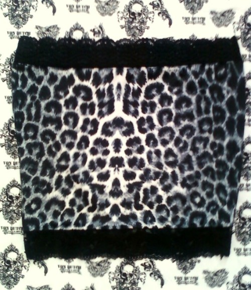 black, gray and white leopard skirt by SubAtomicCrisis on Etsy $18.00 USD