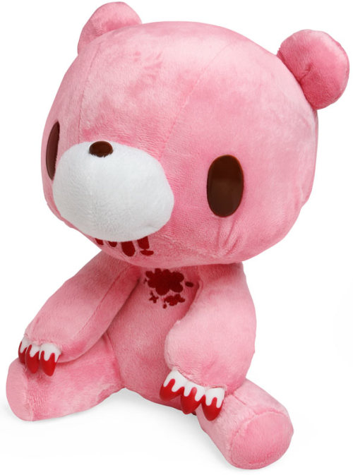 Gloomy Bear Plush Available for purchase at thinkgeek. The most adorable gift for your Valentine Love is also the most deadly: Gloomy Bear will probably eat them. Maybe you're better off giving this to somebody you hate. Your loved one's eminent death aside, I always look for any opportunity to post this GIF: