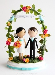 Adorable wedding cake topper!
