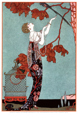 mimi-twamp:  a fashion illustration by georges barbier, 1914