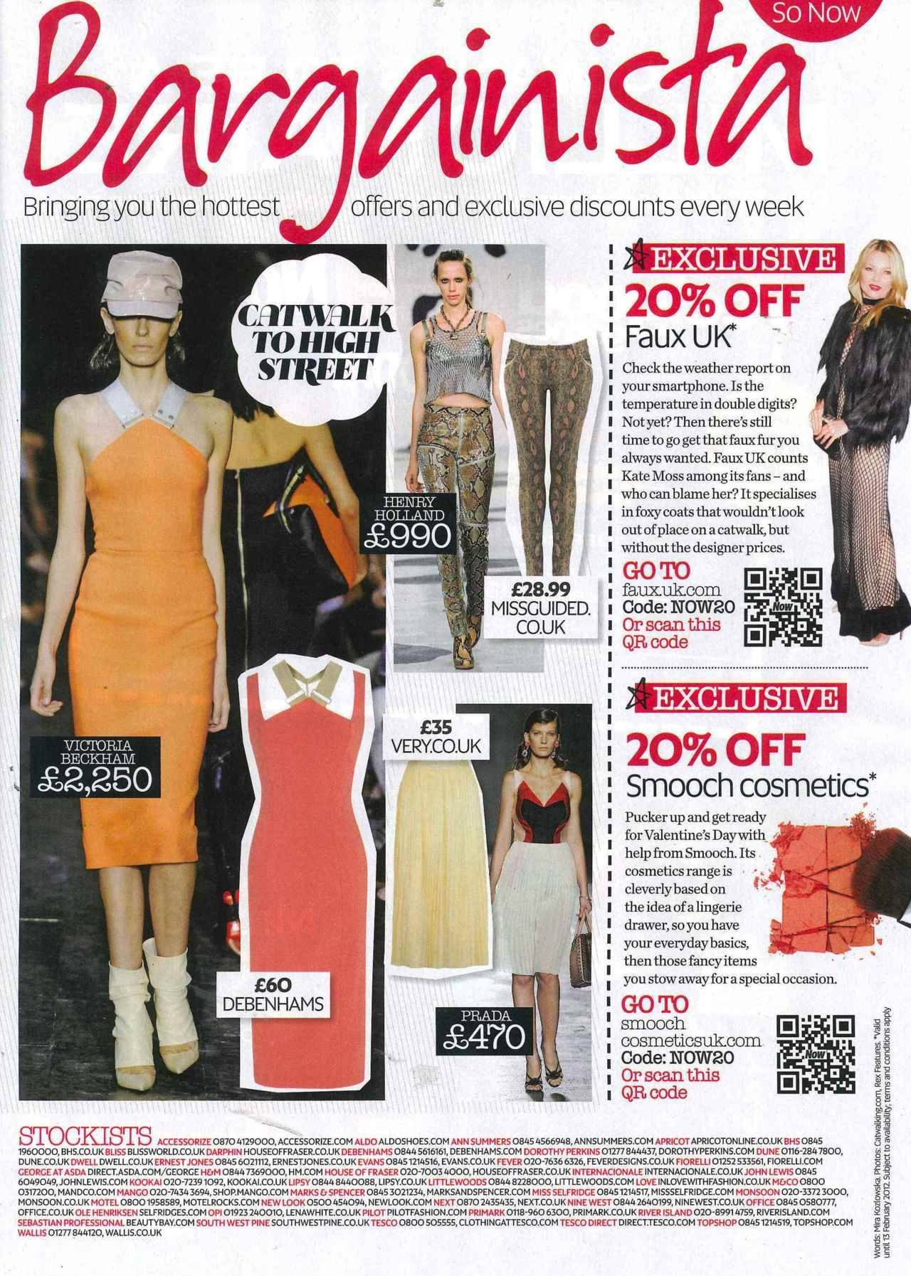 @Faux_UK featured in Now magazine. Click to shop!