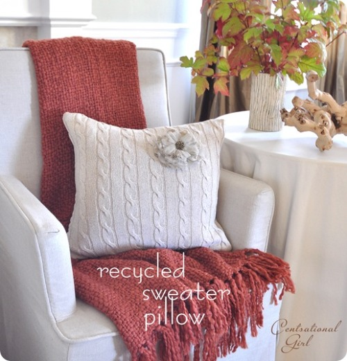 Centsational Girl » Blog Archive » Sweater Pillows