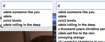 YouTube - When typing in the search box, the autocomplete dropdown size will be limited so it doesn't cover the video. /via Danny