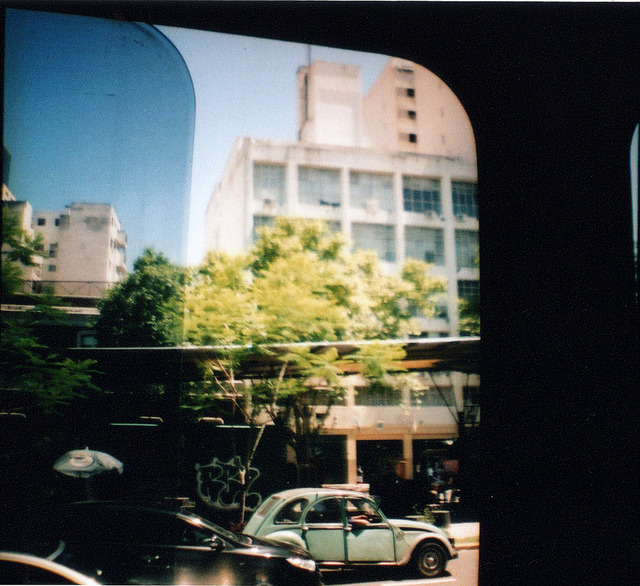 city sight by paintinglines_ on Flickr.Via Flickr: Taken with Diana Mini loaded with Lomography CN 400 film