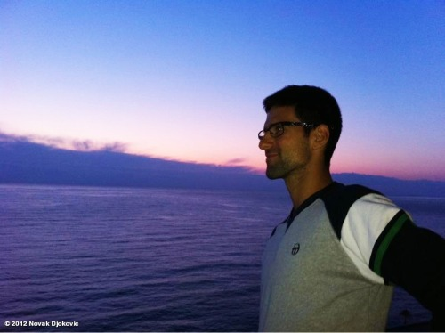 """Beautiful sunrise in Monaco. Obviously, one of the rare times that i get to enjoy this beauty. Reason? Jet lag. Good morning Europe! :)""  via @djokernole"