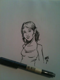 Testing my new MUJI brush pen.
