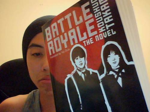 Super thick novel is thick. My Battle Royale novel came in the mail this morning and I am a bit taken by just how thick this novel is. Perhaps it's because I've been reading shorter works as of late…