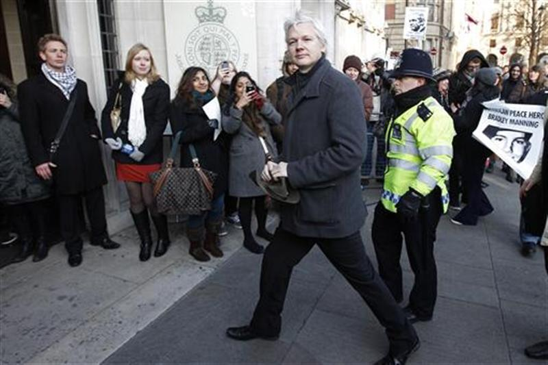 reuters:  WikiLeaks founder Julian Assange arrives at the Supreme Court in London February 1, 2012. Assange was detained in Britain in December 2010 on a European arrest warrant issued by a Swedish prosecutor after two female former WikiLeaks volunteers accused him of sexual assault. [REUTERS/Stefan Wermuth] Read more: Julian Assange appeals extradition to UK's top court