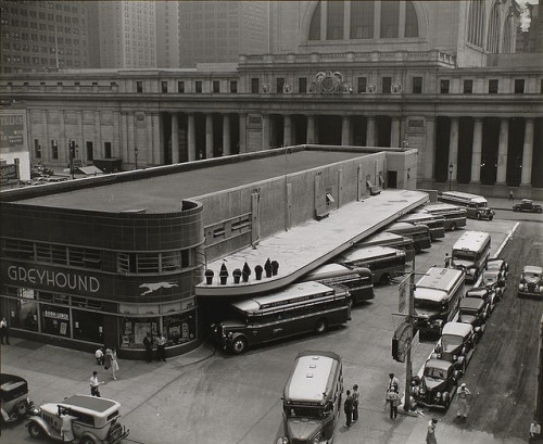 Greyhound Bus Terminal, 33rd and 34th Streets between Sevent… by New York Public Library on Flickr. July 14, 1936.