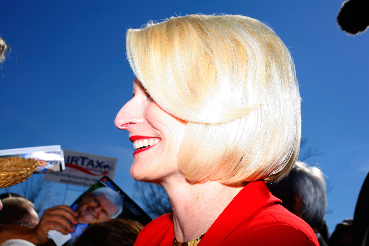 Ricardo Cases for TIME Callista Gingrich during a rally at The Villages, Fla., January 29, 2012. Spanish photographer Ricardo Cases is known for his signature bright colors—colors that were on vivid display in his most recent book, Paloma Al Aire, which captures the traditions of pigeon racing. This week, TIME asked Cases to turn his eye to a different kind of sport: politics.  See more here.
