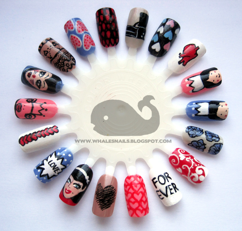 Valentine's Day Nail Art Wheel! Whale's Nails xx