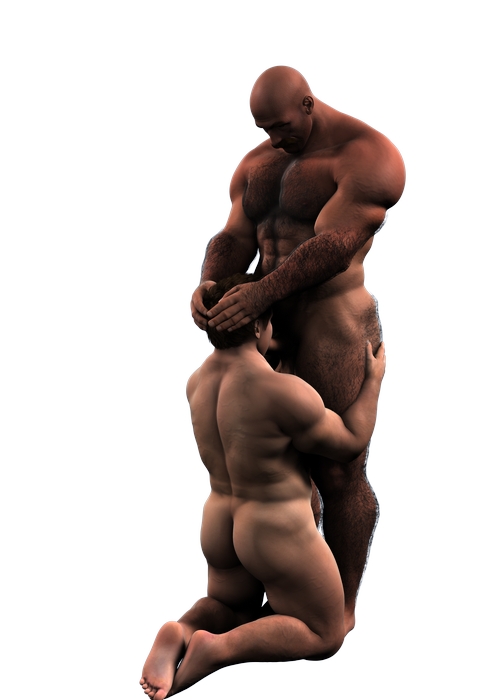 Another render of the jock and the coach.