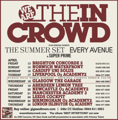 We're excited to announce that The Summer Set has been added to our UK spring tour! Click here to get your tickets now! And for those in the US, make sure to pick up your tickets for our tour with Every Avenue, Plug In Stereo, The Audition, and Simple As Surgery here!