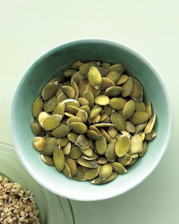 Roasted Pumpkin Seeds … yep, each and every Hallowe'en through Thanksgiving I make these. Yum!