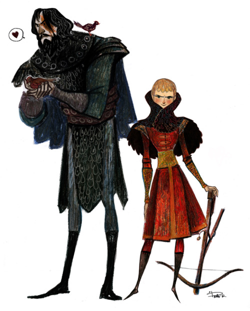 "gingerhaze:  phobs-heh:  Game of Thrones - Sandor ""the Hound"" and Joffrey (I hope it's a right names >__<) Pastels. I love pastels….  Amazing!"