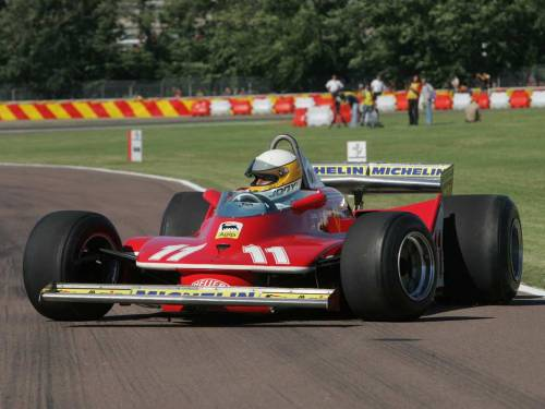 on-grid:  The Ferrari 312T4, which won six races and the 1979 constructors championship in the hands of Gilles Villeuve and Jody Schecketer, who won the drivers championship. Enzo Ferrari described it as the ugliest car he had ever built.   Gotta agree with il Commendatore here, apart from the Lotus 79 most of the first round of wing-cars were god awful to look at.