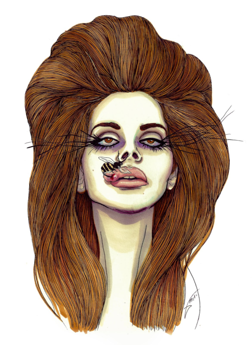 prettyruffian:  LANA DEL BEE-PRICK  bahahahaha   im so sick of her face