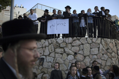 "What effect have Ultra-Orthodox values had on secular society in Israel? ""Like all liberal societies, Israeli society contains anti-liberal elements, and these anti-liberal elements, both religious and secular, have become increasingly prominent and increasingly sickening, recently. This anti-liberalism cannot be conspiratorially imputed to foreigners or enemies: Jews are doing this to Jews."" —Leon Wieseltier, ""Fevers"" Photo courtesy of Getty Images."
