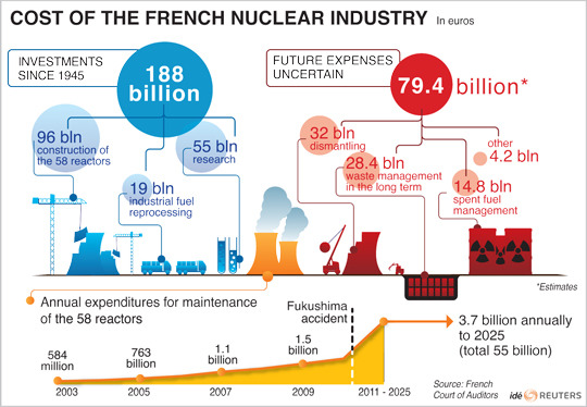 Just how much does the French nuclear industry cost? [Reuters]