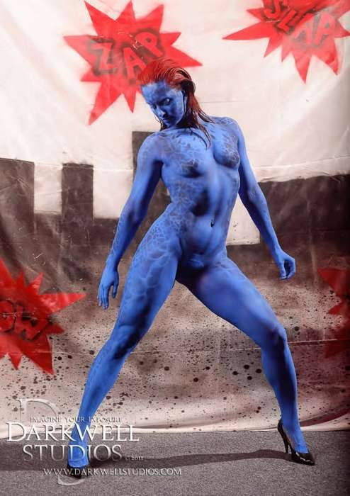 Mystique body paint