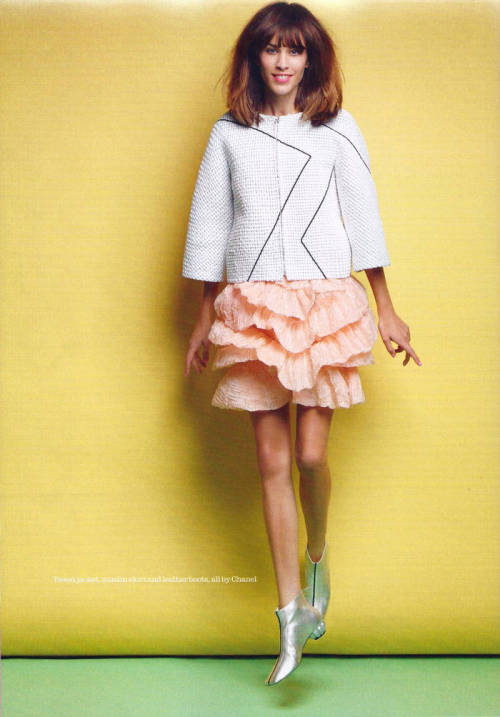 Alexa Chung for Elle UK. via MagXone.