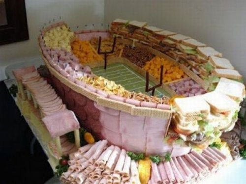 Super Sandwich Stadium Super Bowl Platter   Not only is it to-scale, it tastes exactly like Lucas Oil Stadium.