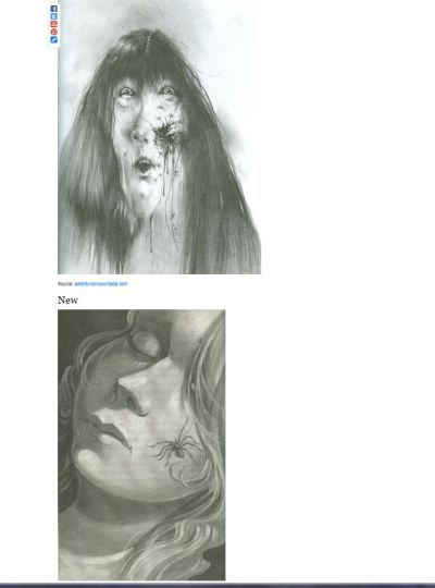 "newageamazon:  kristinross:  flavorpill:  How ""Scary Stories To Tell In The Dark"" is being ruined (via Buzzfeed)    NOOOOOO Hey media, stop pillaging my childhood. The new illustration is very pretty. And that's the problem.  Growing up with these books, half the point was that the illustrations were more likely to give you nightmares than the stories themselves.  Look at the example above: I'm sorry, but if kids aren't getting an image of an open flesh wound with spiders crawling out of it, how are they going to survive in our modern world?  Stop that right now"