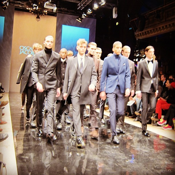 Tailored army for the Oscar Jacobsen finale (Taken with instagram)