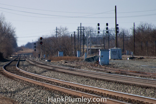 Lonely Westbound Tracks on Flickr.Looking west from the Berea Yard, Berea, Ohio January 2012.