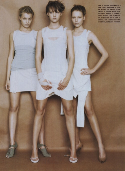 """Or Short Or Small Or Tiny"" photographed by Paolo Roversi for Vogue Italia April 2004"